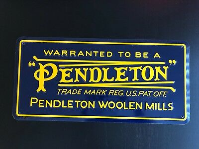 "Pendleton Vintage Logo Wall Sign (Metal with four corner drill holes) 24""X11.5"""