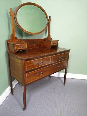 An Antique Edwardian Mahogany Dressing Chest of Drawers ~Delivery Available~