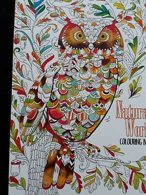 NATURAL WORLD   -  60 Page Colouring book
