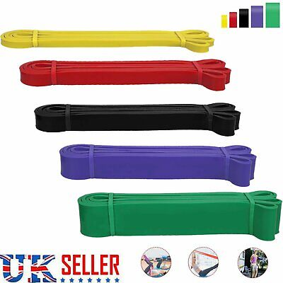 5x Pull Up Assist Bands Set Resistance Loop Bands Power lifting Exercise Stretch