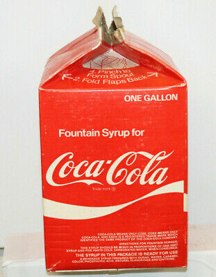 Vintage One Gallon Coke Coca Cola Fountain Syrup Carton