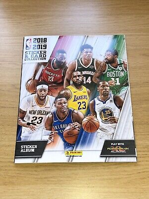 Panini Nba Official Sticker Card Collection 2018-2019 Album Empty 6 Stickers