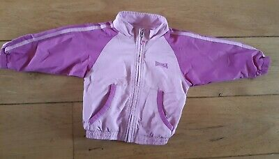 Lonsdale Girls Zip Up Pink Jacket Size 12-18 Months