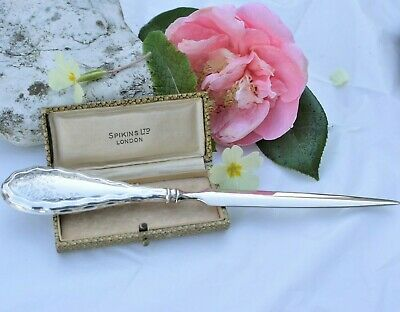 Beautiful Antique Sterling Silver Letter Opener - Fully Hallmarked For 1921