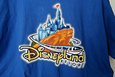 DISNEYLAND RESORT Blue 100% Cotton  T-SHIRT XL NEW WITH TAGS