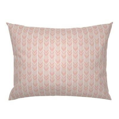 Blush Pink Pale Pink Chevron Herringbone Light Pink Pillow Sham by Roostery