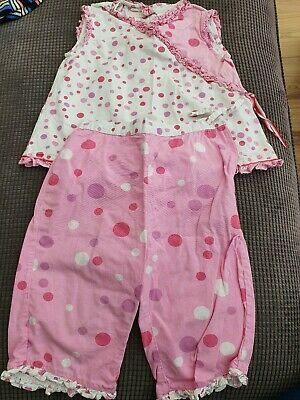 MONSOON Pink polka dot touser top outfit/set (age 2-3)