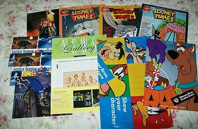 Warner Brothers Studio Stores & Catalogs+ Looney Tunes Magazines + DC Animation
