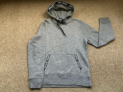 Hollister Hoodie Grey & Black Mens Size XS UK32