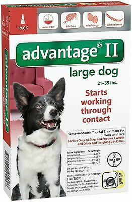 READ ABOUT FAKES- EPA Advantage II Flea Control Lg Dogs, 21-55 lb ONE(1) Dose