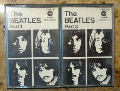 The Beatles Part 1 & 2 Cassette Tapes In Jewel Cases