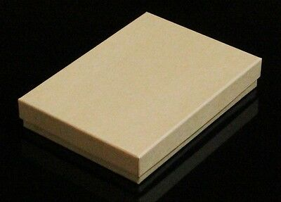 "Cotton Filled 12 Jewelry Gift Boxes Kraft 5 3/8"" X 3 7/8"" X 1"""