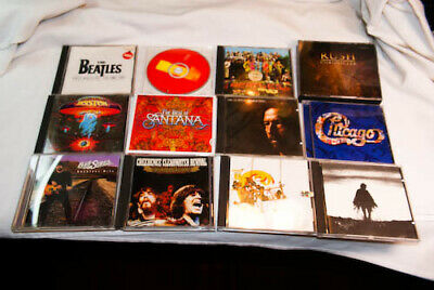 Vintage Rock Music Clapton Beatles Ccr Rush & More Cd Lot#3