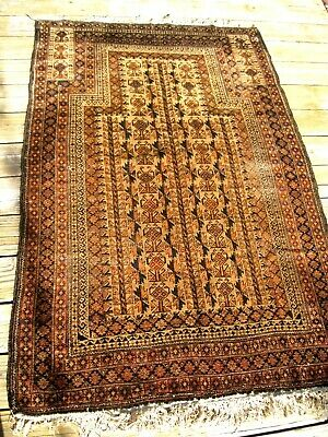 Antique Dated 1902  Belouch  Prayer Rug  With   Great Colors Fine Rug