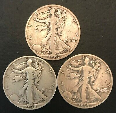 Group of three key date WLH's - (1) 1923-S and (2) 1938-D - very clean pieces