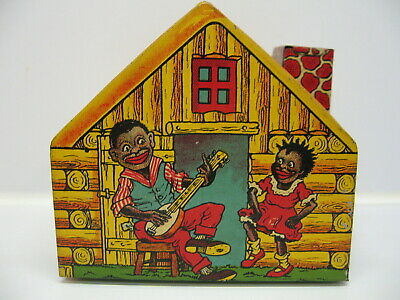 CHEIN TOYS TIN LITHOGRAPHED LOG CABIN BANK RARE 1930s BLACK AMERICANA EXCELLENT