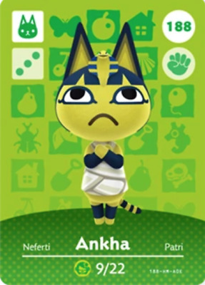 Animal Crossing: New Horizons Amiibo Ankha #188 (Series 2) NFC Tag - RESTOCKED