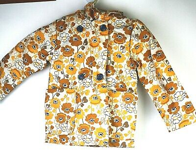 next girls shower resistant with hood floral  jacket age 5-6 yrs new with tags
