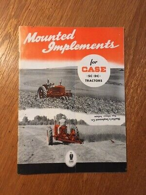 Case Mounted Implements for SC and DC Tractors Sales Brochure
