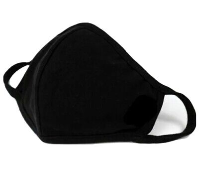 Black Reusable Face Cover Anti Fog Face Cloth Washable Anti Dust UK.