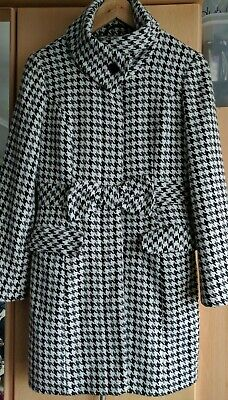 Tammy Black & White Wool Blend Smart Coat Age 14-15 Years