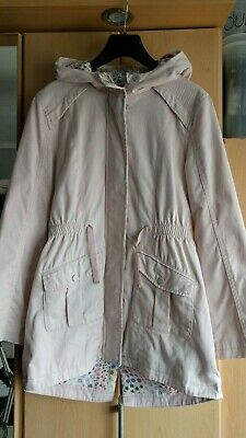 Marks And Spencer Pale Pink Hooded Cotton Lightweight Parka Age 11-12 Years