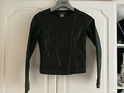 la redoute girls faux leather jacket coat black. Age 10