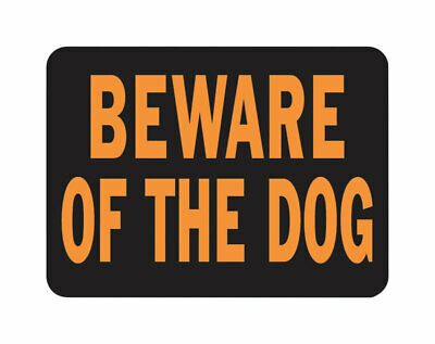 Hy-Ko  English  Beware Of Dog  Sign  Plastic  9 In. H X 12 In. W Pack Of 10