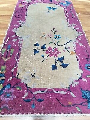 Art Deco Chinese Nichols rug, small, great colors