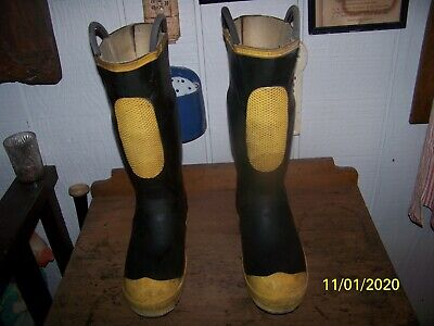 Men's Firewalker Ranger Firefighter Rubber Steel Toe Boots Size 9