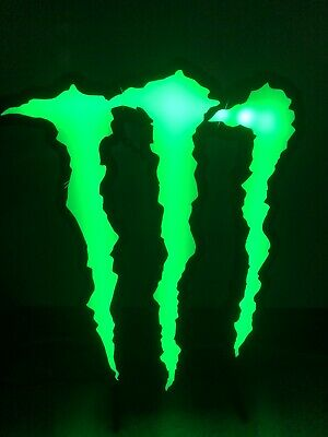 """Monster Energy 13"""" x 9"""" Led Sign Used"""