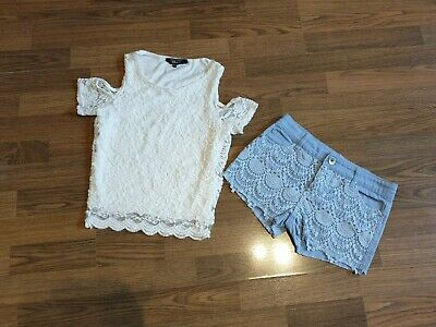 Girls  Outfit Set Top New Look And Shorts Primark 9-10-11 Years