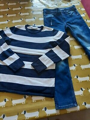Bundle of boys H&M jumper and skinny fit jeans Age 8-9 yrs