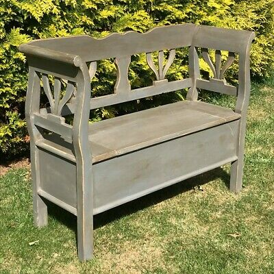 Scandinavian Country Pine Bench Box Settle