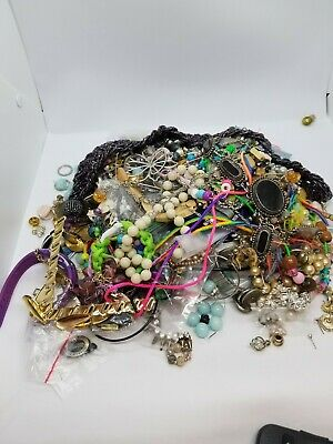 Jewelry Vintage-Modern Huge  Lot Craft, Junk, Wearable, Box 3.10 FULL POUNDS