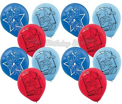 (12) pcs Sonic The Hedgehog Latex Balloons Birthday Party Supplies