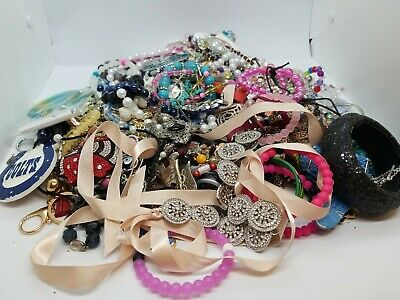 Jewelry Vintage-Modern Huge  Lot Craft, Junk, Wearable, Box 4.5 FULL POUNDS