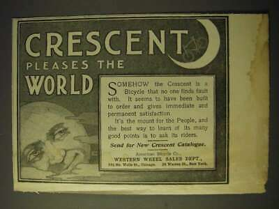 1900 Crescent Bicycles Ad - Crescent pleases the world