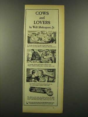 1940 Cola Life Savers Candy Ad - Cows and Lovers
