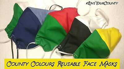 Face Mask Reusable County Colours Support Your County