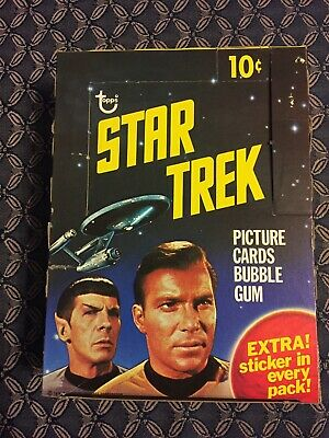 1976 STAR TREK  Topps Picture Cards EMPTY DISPLAY BOX