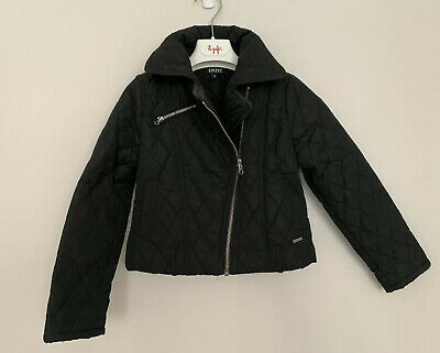 Girls DKNY Age 6 Years Biker Jacket Black Quilted