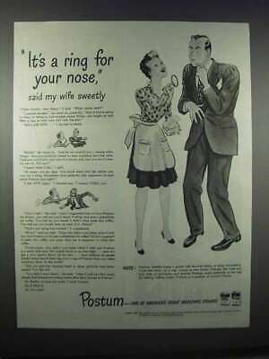 1944 Postum Drink Ad - It's a Ring for Your Nose