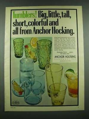1970 Anchor Hocking Tumblers Ad - Finlandia, Lido and Caprice