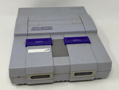 Super Nintendo Entertainment System SNES Replacement Console Only Works SNS-001