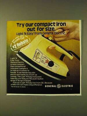 1979 General Electric Light 'N Easy Iron Ad - Compact