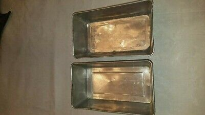 Lot of 2 Vintage Aluminum Bread Pans- One is a Bake King Pure Aluminum No. 822