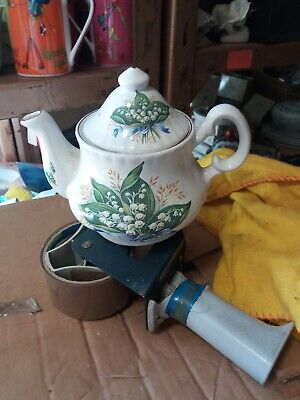 2 Cup Floral  Teapot Lily of the Valley Pattern .