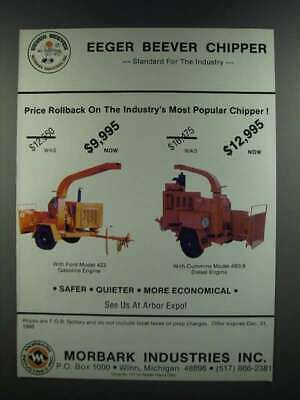 1986 Morbark Industries Eeger Beever Chippers Ad