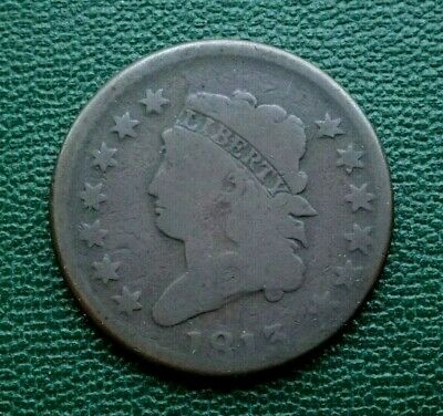 Scarce 1813 Classic Head Large Cent, Vg  ~  Pleasing Details & Surfaces